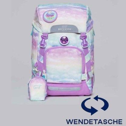 Beckmann Schulranzen active air flx Unicorn Wendetasche ohne Set 6-teilig Modell-2021 Set bei offiziellem Onlineshop norway-schulranzenshop.de