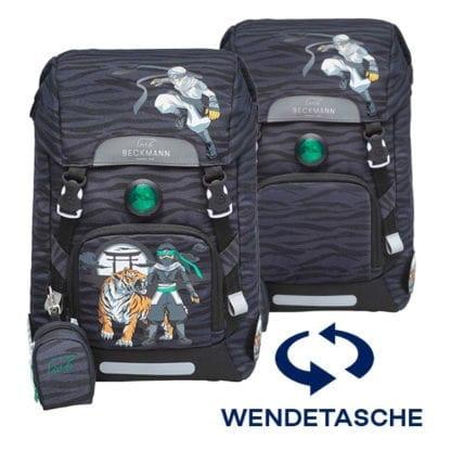 Beckmann Schulranzen Ninja Tiger 1. Klasse Set, 6-teilig (Wendetasche)