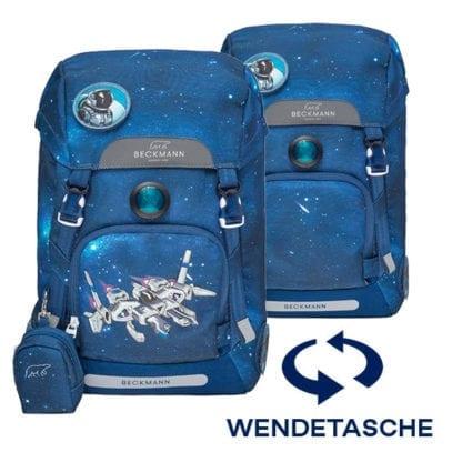 Beckmann Schulranzen Spaceship 1. Klasse Set, 6-teilig (Wendetasche)