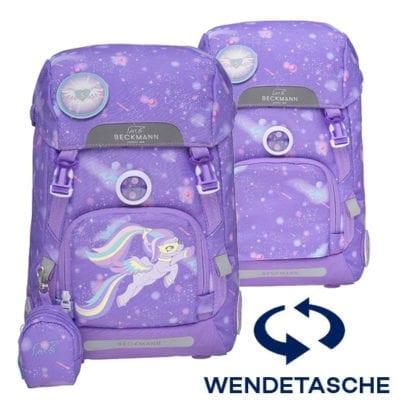 Beckmann Schulrucksack 1. Klasse Set 6 teilig Super Pony 2020 (Wendetasche)