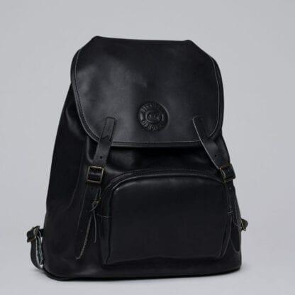 Beckmann Lederrucksack Black 26L