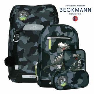 Beckmann Schulranzen Camo Rex MAXI Set 6-teilig Modell-2021 Set bei offiziellem Onlineshop norway-schulranzenshop.de