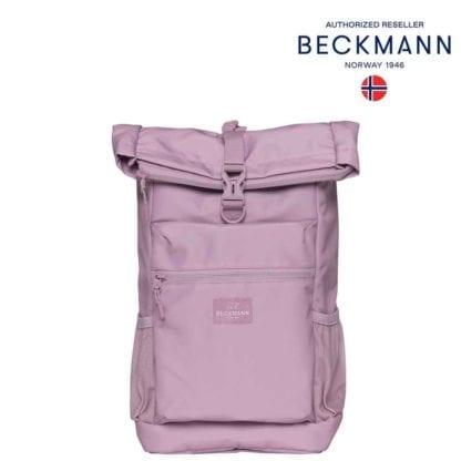 Beckmann Rucksack Sport Light Rolltop Pink 20 Liter Seite Modell-2021 Set bei offiziellem Onlineshop norway-schulranzenshop.de