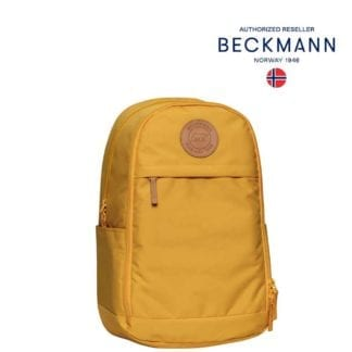 Beckmann Rucksack Urban Midi Yellow 26 Liter Rückenseite Modell-2021 bei offiziellem Onlineshop norway-schulranzenshop.de