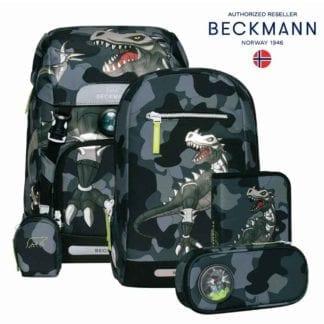 Beckmann Schulranzen Camo Rex Set 6-teilig Modell-2021 Set bei offiziellem Onlineshop norway-schulranzenshop.de