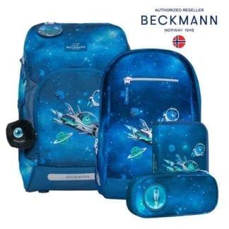 Beckmann Schulranzen Galaxy air flx Set 6-teilig Modell-2021 Set bei offiziellem Onlineshop norway-schulranzenshop.de