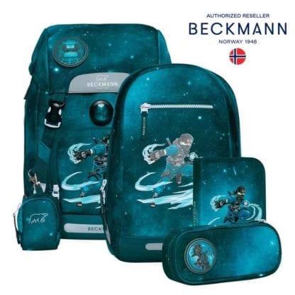 Beckmann Schulranzen Ninja Master Classic Set 6-teilig Modell-2021 Set bei offiziellem Onlineshop norway-schulranzenshop.de