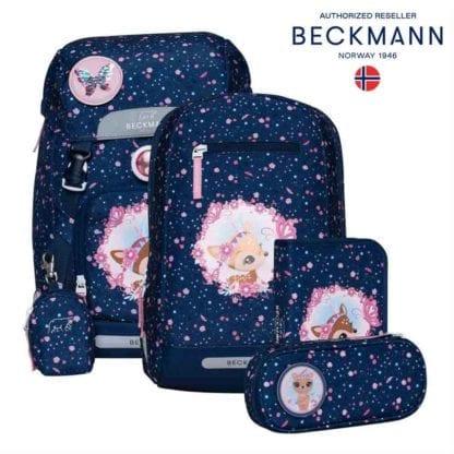 Beckmann Schulranzen Classic Deer Blue Set 6-teilig Modell-2021 Set bei offiziellem Onlineshop norway-schulranzenshop.de