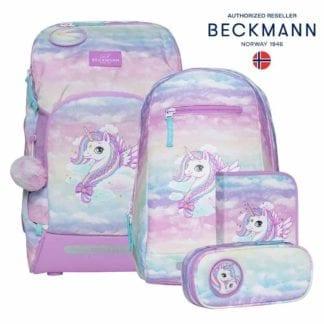 Beckmann Schulranzen Unicorn air flx Set 6-teilig Modell-2021 Set bei offiziellem Onlineshop norway-schulranzenshop.de